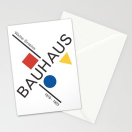 Bauhaus Movement Poster Artwork, 1919 Walter Gropius Reproduction, tshirt, tee, jersey, poster, artw Stationery Cards