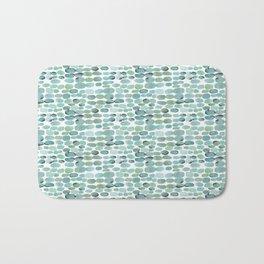 Teal pebbles Bath Mat