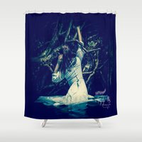 tangled Shower Curtains featuring Tangled by Angela Mia Photography