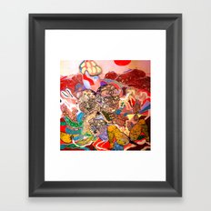 CAPSLOCK Framed Art Print
