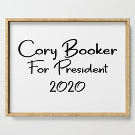 Cory Booker for President Serving Tray