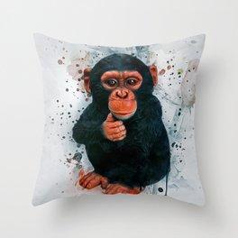 Baby Chimpanzee Throw Pillow