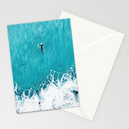 Surfer in Ocean Stationery Cards