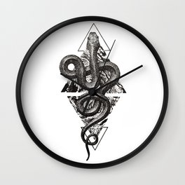 Snake Marbling and Triangles Wall Clock