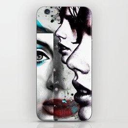 face mash up #4 iPhone Skin