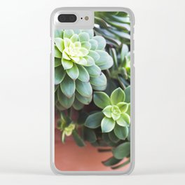 Succulent Loveliness Clear iPhone Case