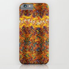 Multicolored wavy lines background Slim Case iPhone 6s