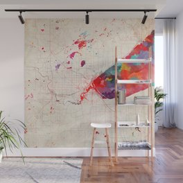 Duluth map Minnesota painting Wall Mural