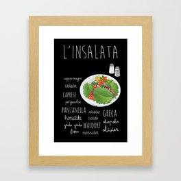 Salad poster Framed Art Print
