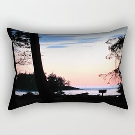 Pink Skies at Night - Deception Pass State Park, Whidbey Island, WA Rectangular Pillow
