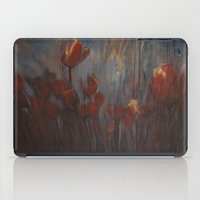 tulips iPad Cases featuring tulips by Maria Enache