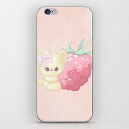 Raspberry Cutie Bear iPhone Skin
