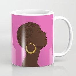 BBLOOMM - Illustration, Floral, Big Chop, Melanin, Pink Coffee Mug