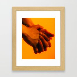 Hands 1 of 2 (Heavy Grain) Framed Art Print