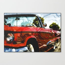 Ze Tat.Mobile aka tats tight customized painted lady car Canvas Print