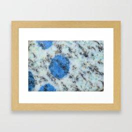 K2 Mountain Stone Framed Art Print