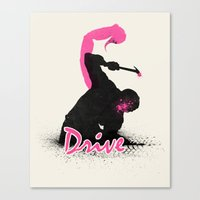 drive Canvas Prints featuring Drive by beware1984