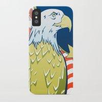 patriotic iPhone & iPod Cases featuring Patriotic Eagle by whiterabbitart