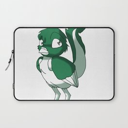 Pine Green/Color-Or-Paint-Your-Own Reptilian Bird #ArtofGaneneK #Animal Laptop Sleeve