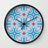 clover Wall Clocks featuring Clover by Truly Juel