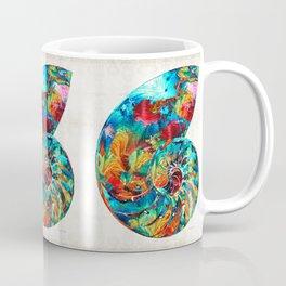 Colorful Nautilus Shell by Sharon Cummings Coffee Mug