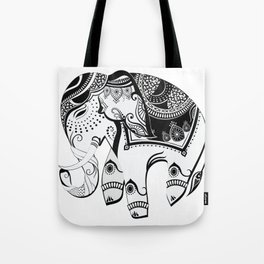 Abstract Design Indian Elephant Tote Bag