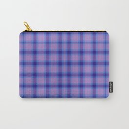 Purple Plaid Preppy Carry-All Pouch