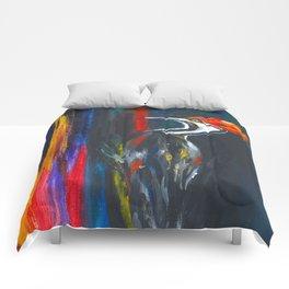 Fire Bird (Pileated Woodpecker) Comforters