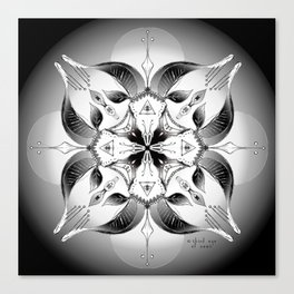 Mandala ~ Year of the Goat (black & white) Canvas Print
