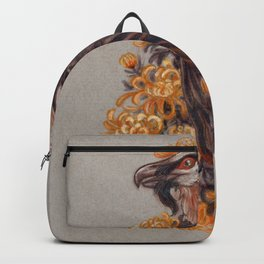 Queen of Peace Bearded Vulture with Chrysanthemums Backpack