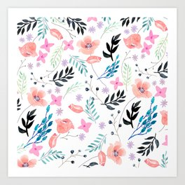 Sweet Floral Watercolor Art Print