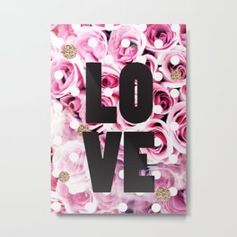 Love in Roses Metal Print