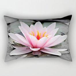 Pink Lotus Flower Waterlily Rectangular Pillow