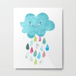 Happy cloud Metal Print