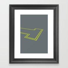 dead end Framed Art Print