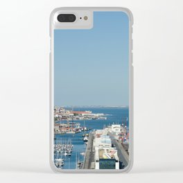 Port of Lisbon, Portugal Clear iPhone Case