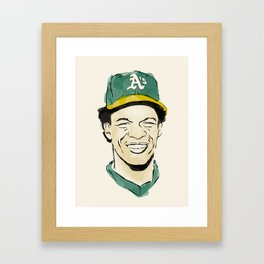 "Rickey ""The Man of Steal"" Henderson Framed Art Print"