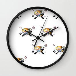 8bit vacation Wall Clock
