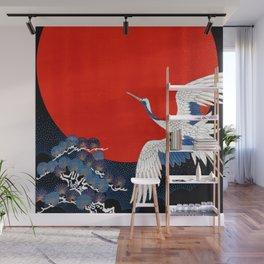 JAPANESE POP ICON- WHITE CRANE Wall Mural