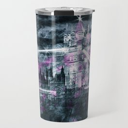 Modern-Art LONDON Tower Bridge & Big Ben Composing Travel Mug