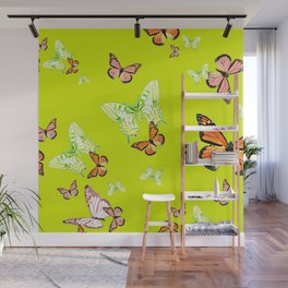 Tiger and Butterflies Wall Mural