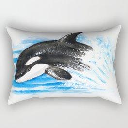 Baby Orca Playing Rectangular Pillow