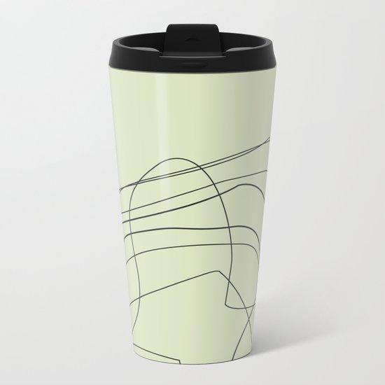 Abstract Lines Metal Travel Mug