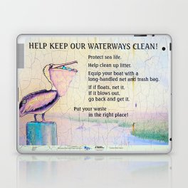 Protect Our Waterways Laptop & iPad Skin