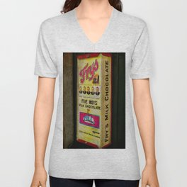 Vintage Chocolate Vending Unisex V-Neck