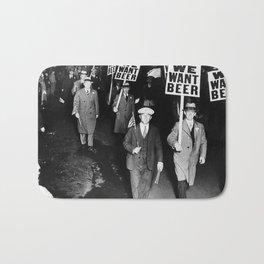 We Want Beer Prohibition Bath Mat
