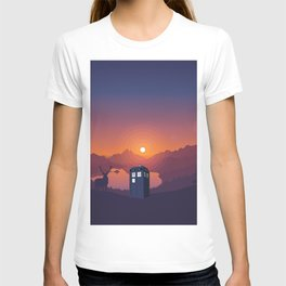 Tardis in forest T-shirt