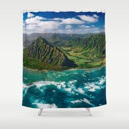 Jurassic Park Panoramic Shower Curtain