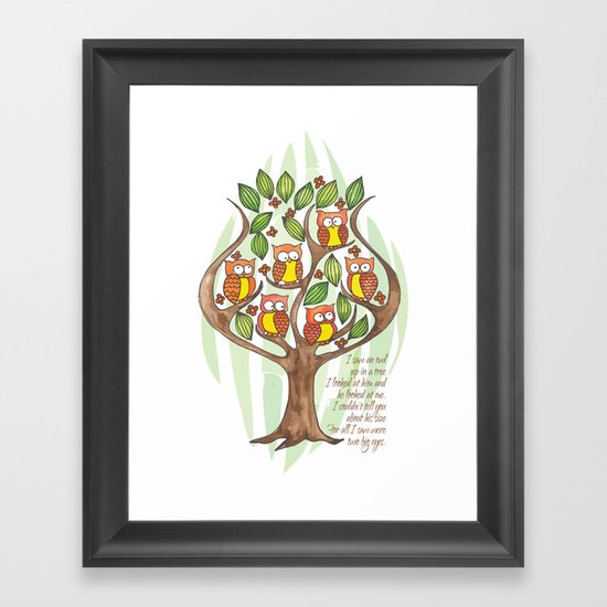 Owl Tree Framed Art Print