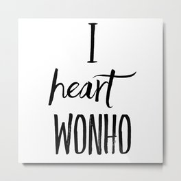 I Heart Wonho - Monsta X (Design 2) Metal Print